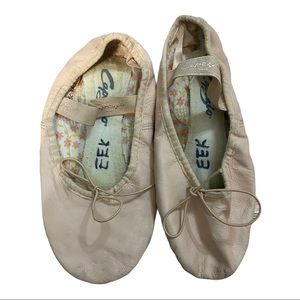 Capezio 205C Leather Ballet Shoe Size 2